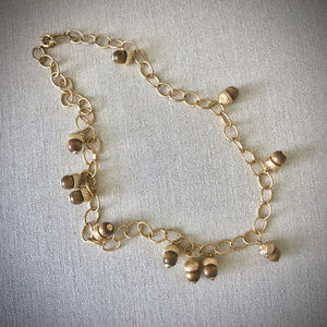 J. Crew Vintage Acorn Chain Necklace